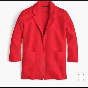 Cerise JCrew Sweater Blazer